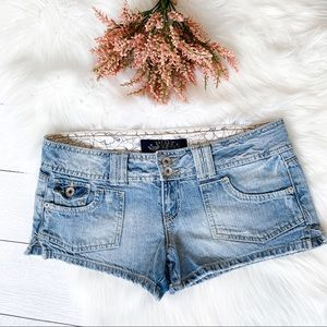 Hint super short distressed jean shorts